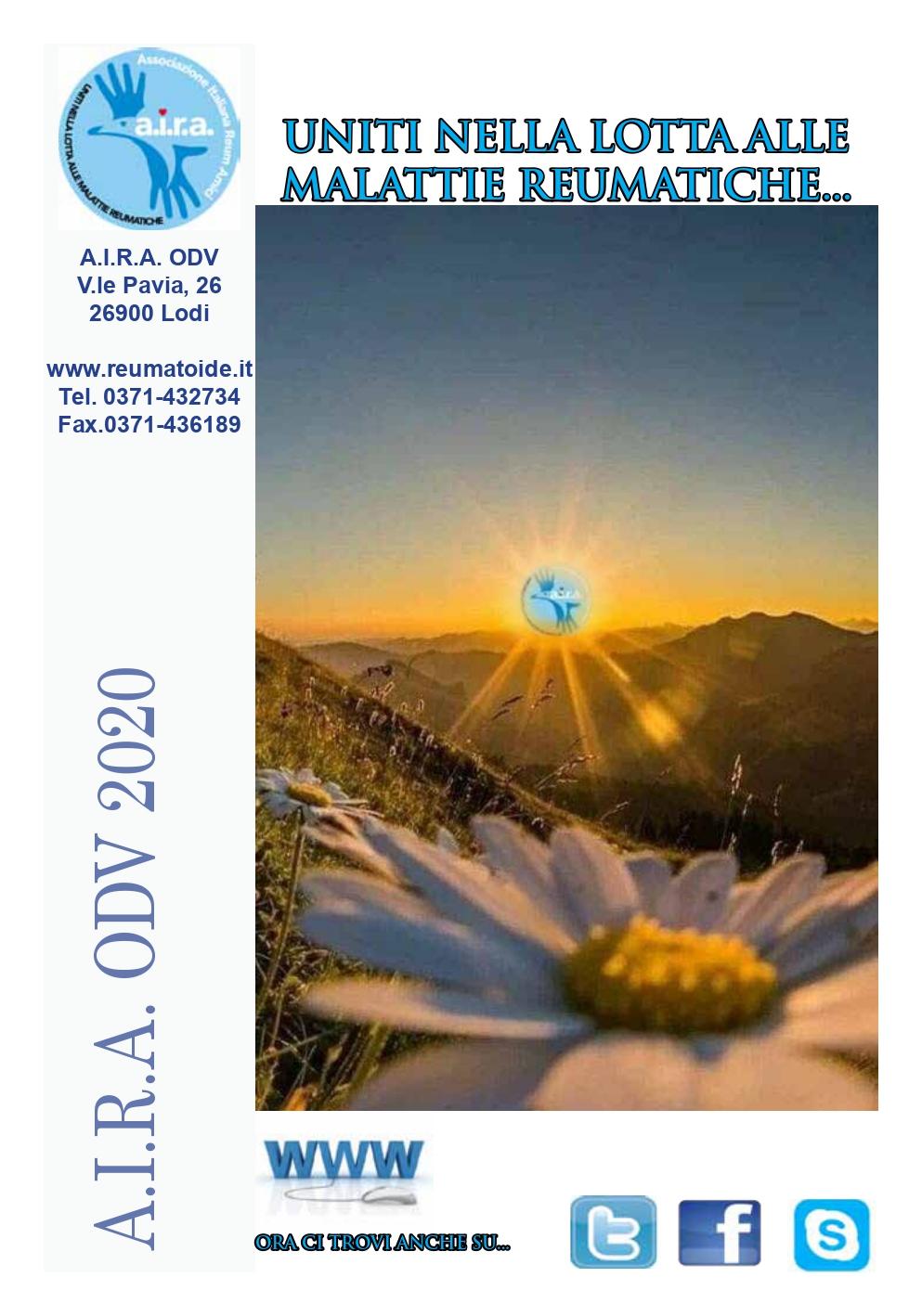 Copertina Giornale A.I.R.A 2020 x sito